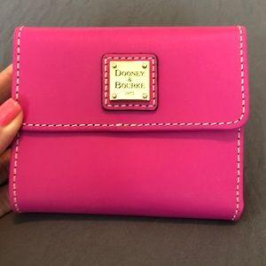 Dooney & Bourke fuchsia Billfold wallet